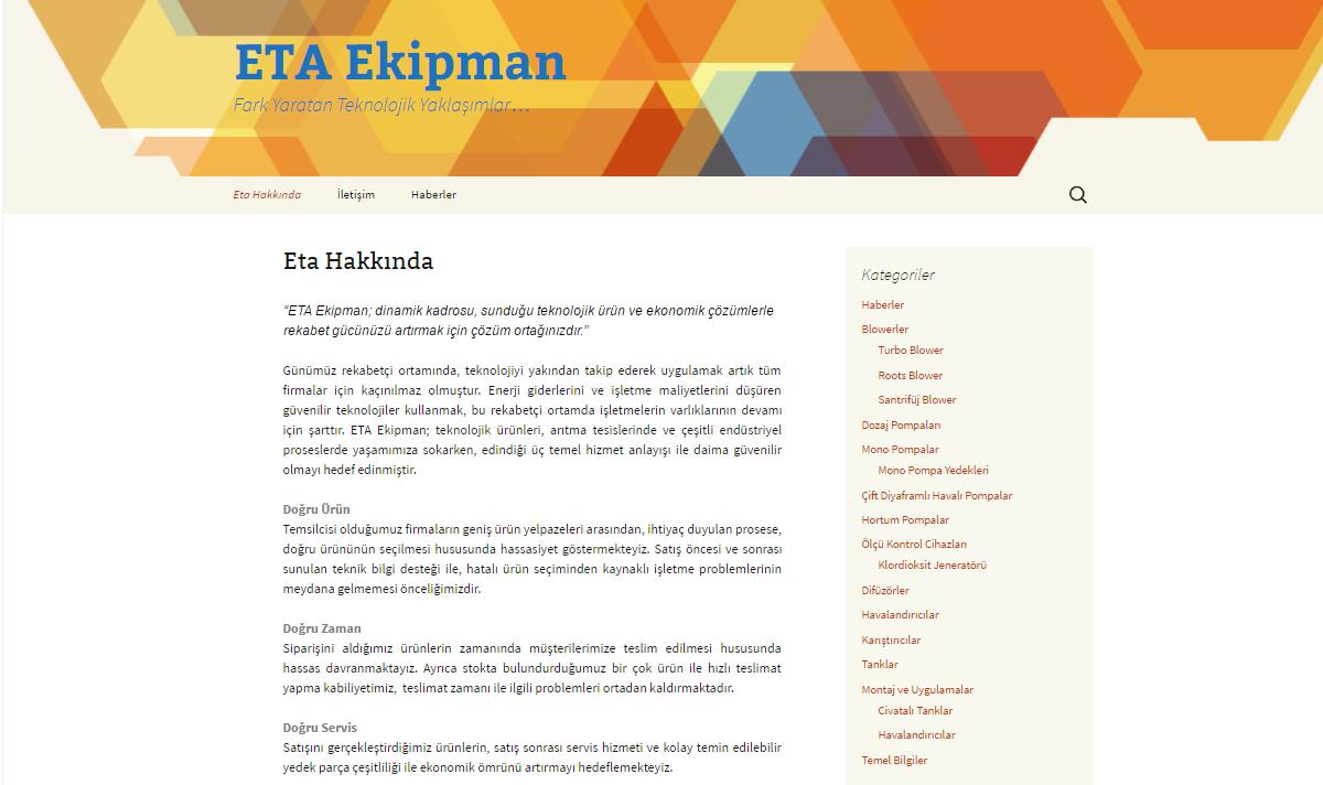 Eta Blog Sayfamız Güncellendi